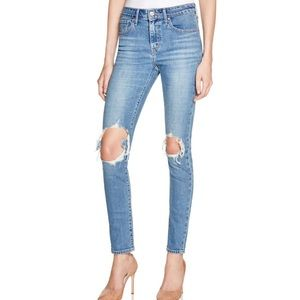 Levi's high waist ripped classic jeans